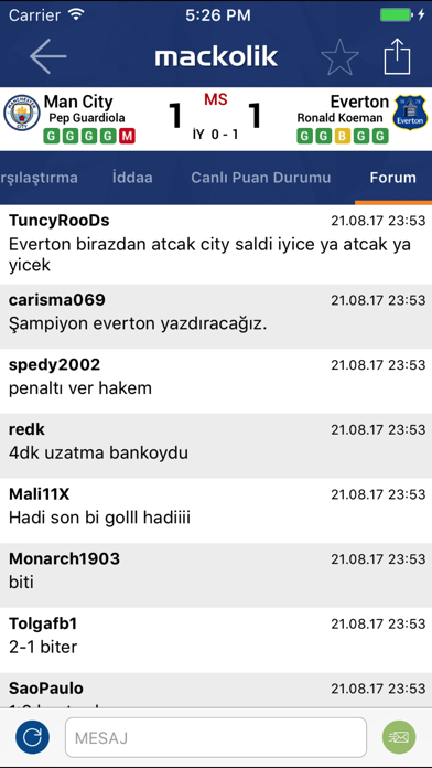 Screenshot for Mackolik Canlı Sonuçlar in Turkey App Store