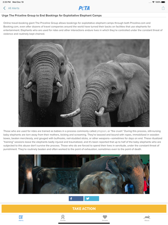 PETA screenshot