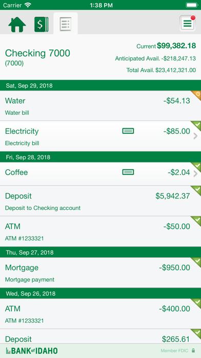 Bank of Idaho Biz Mobile app image