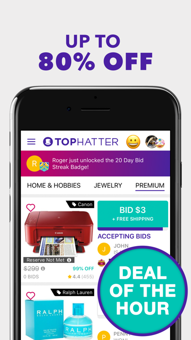 download Tophatter: Win Fun Discounts