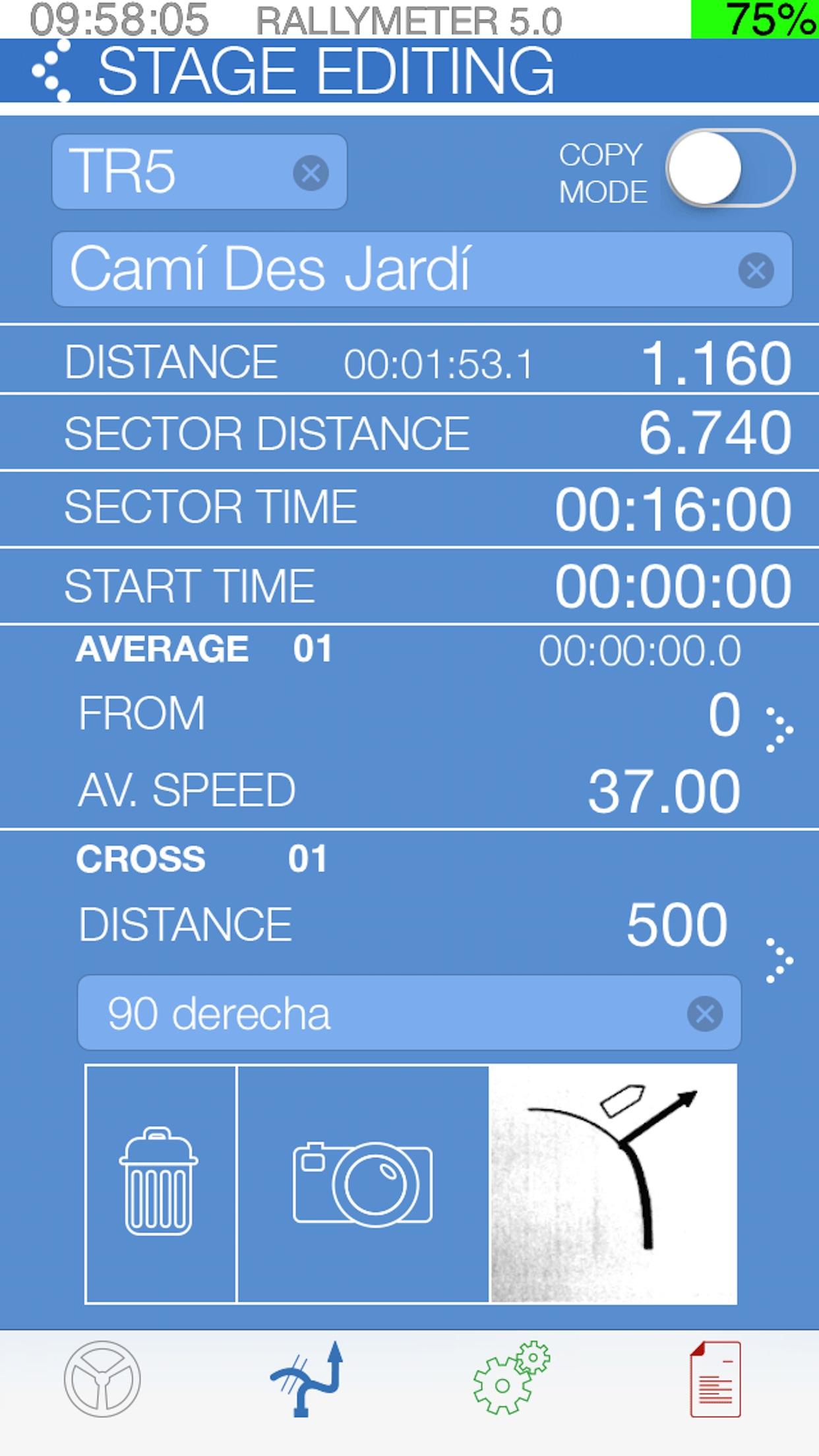 Rallymeter Basic TSD Screenshot