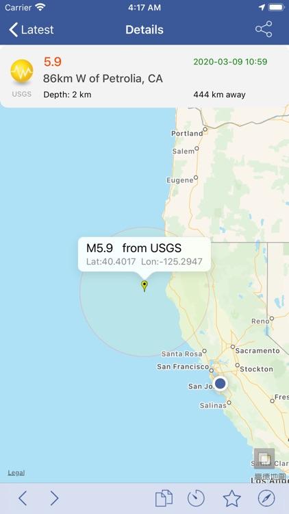 Earthquakes  - Latest & Alert