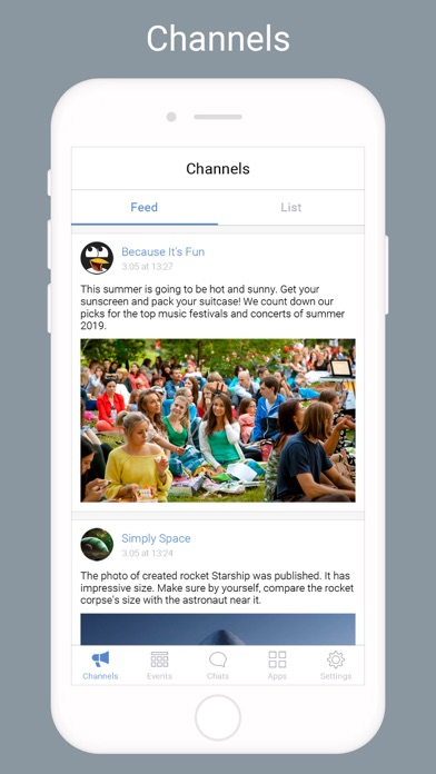 Screen Shot Community messenger 0