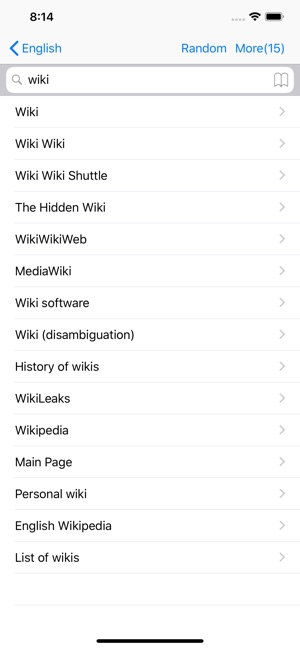 Wiki Search on the App Store