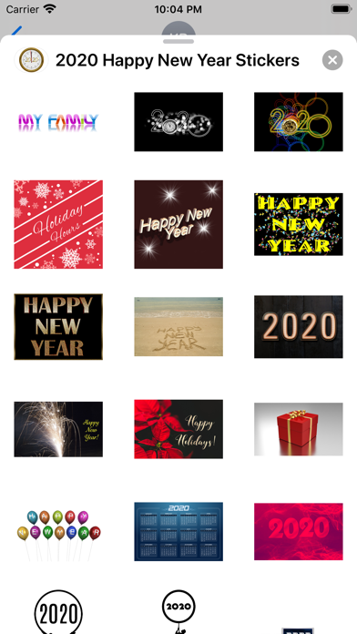 2020 Happy New Year Stickers screenshot 6