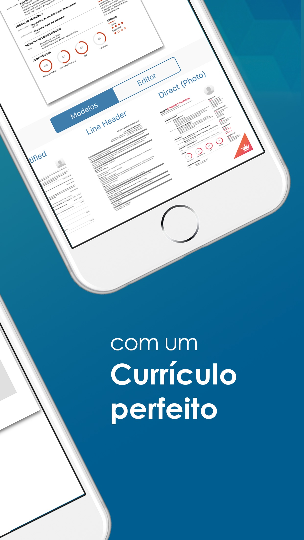 Screenshot do app Go2Job - Currículo e Empregos