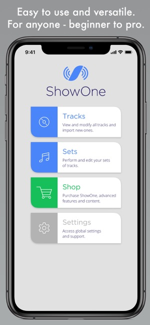 ShowOne - Pro Backing Tracks on the App Store