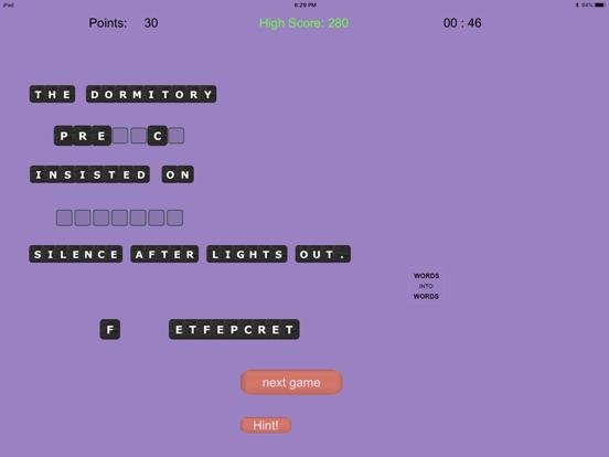 WORDS into WORDS screenshot 8