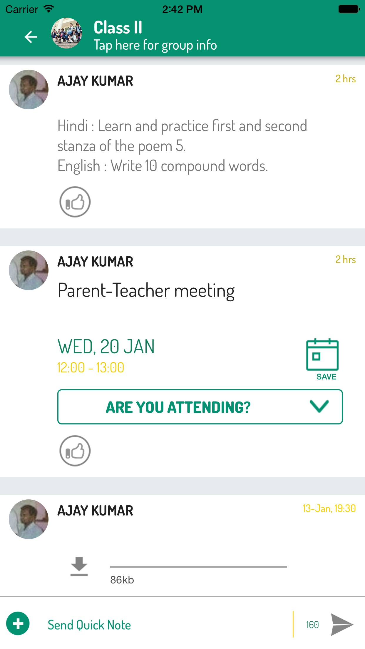 Uolo Notes - Instant Messaging Screenshot