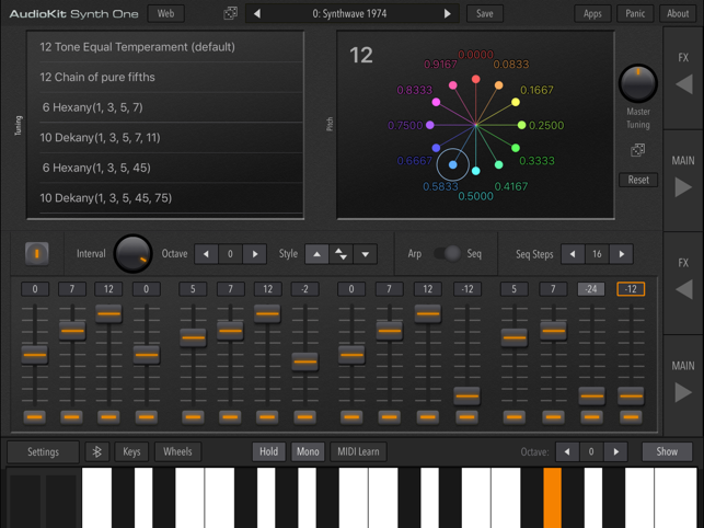 ‎AudioKit Synth One Synthesizer Screenshot
