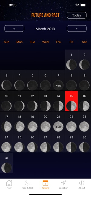 Moon Phases Calendar.Moon Phase Calendar Plus On The App Store