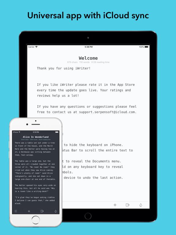 Screenshot #4 pour iWriter