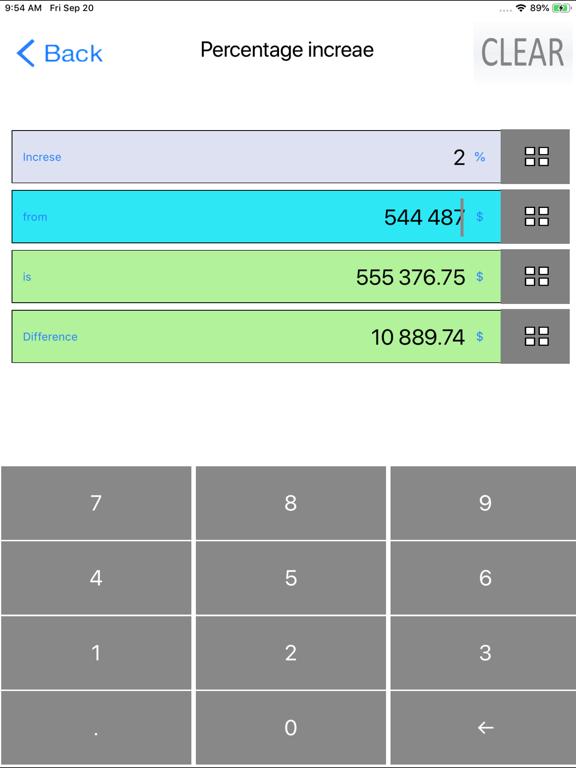 Percent, Percentage Calculator screenshot 14