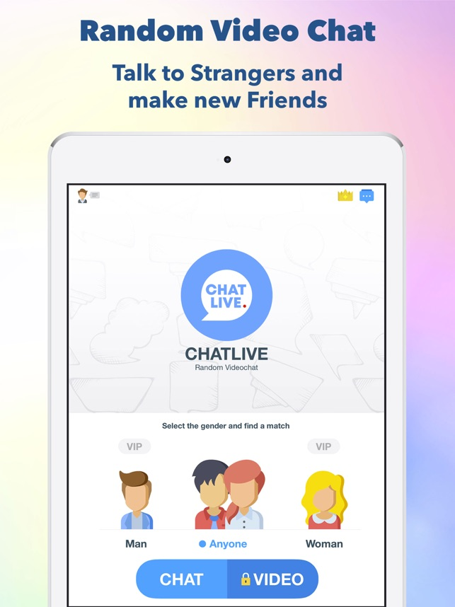 ChatLive, Random Video Chat on the App Store