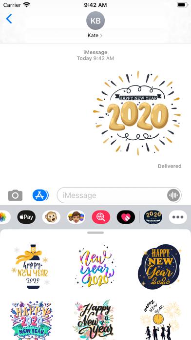 Happy New Year Stickers 2020 screenshot 3