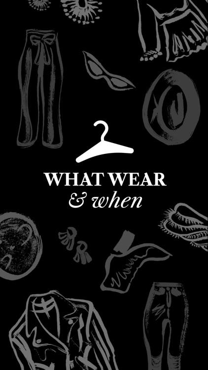 What Wear & When? screenshot-4