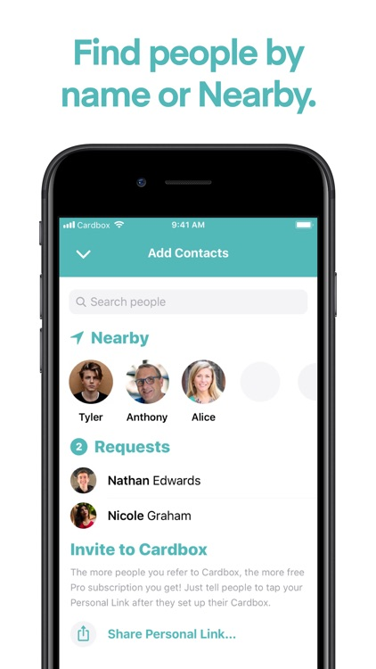 Cardbox • Contacts Network screenshot-4