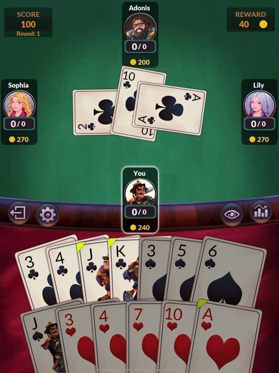 Hearts - Offline Card Games screenshot 15