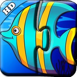 海洋动物世界识字拼图-读拼音认汉字玩游戏