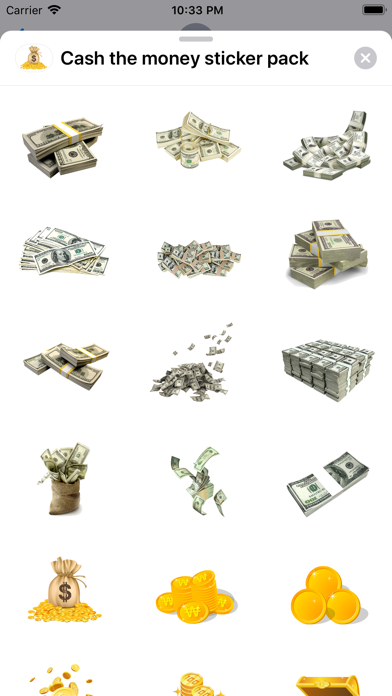 Screenshot #1 pour Cash the money sticker pack