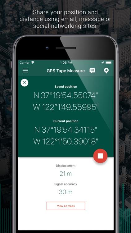 My GPS Tape Measure