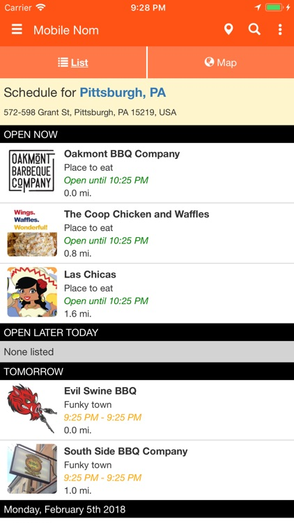 Mobile Nom - Food Truck Finder