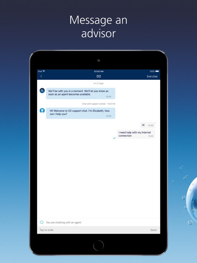 O2 Dating chat