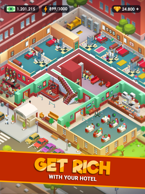 iPad Image of Hotel Empire Tycoon-Idle Game