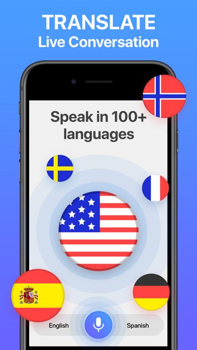 Voice Translator App. Screenshot
