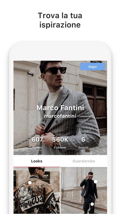 Screenshot for 21 Buttons Social Network Moda in Italy App Store