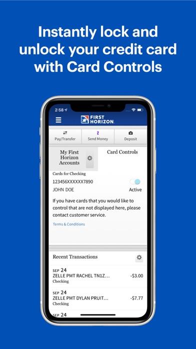 First Horizon Mobile Banking review screenshots