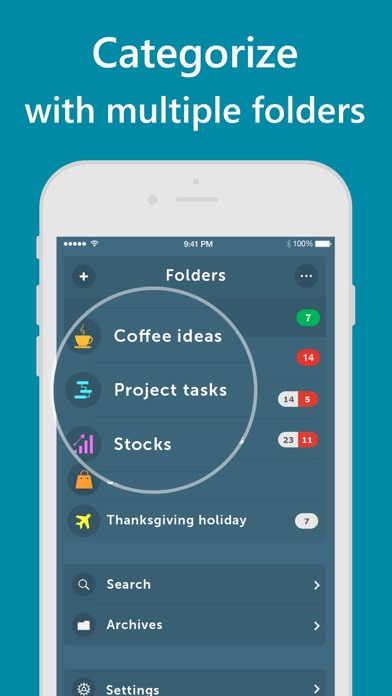Screenshot Orderly - Simple to-do lists