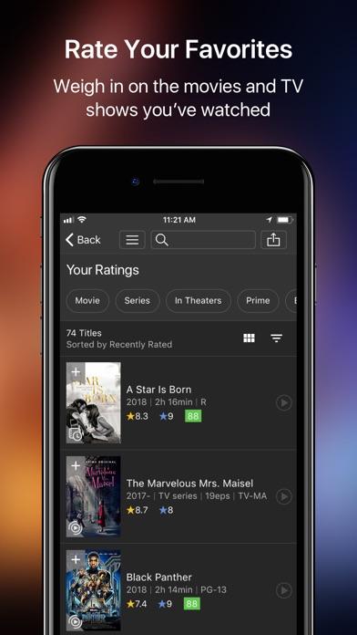 IMDb Movies & TV Screenshot on iOS