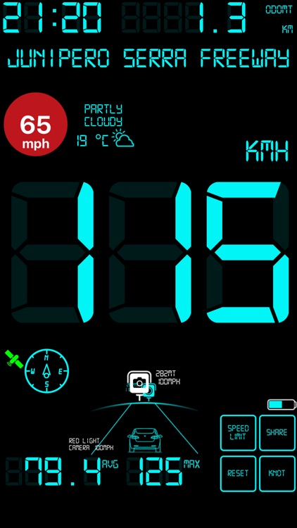 Speedmeter mph digital display screenshot-4