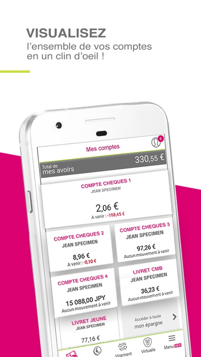 CMSO Suivi de compte et budget screenshot one