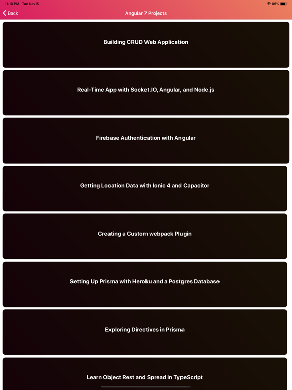 Learn Angular 8 Development screenshot 16