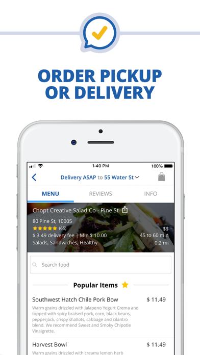 Deliverycom Food Liquor App review screenshots