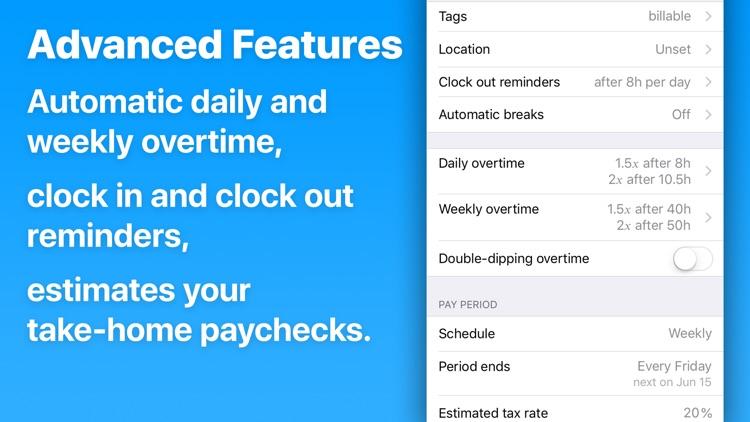 HoursTracker: Hours & Pay screenshot-4
