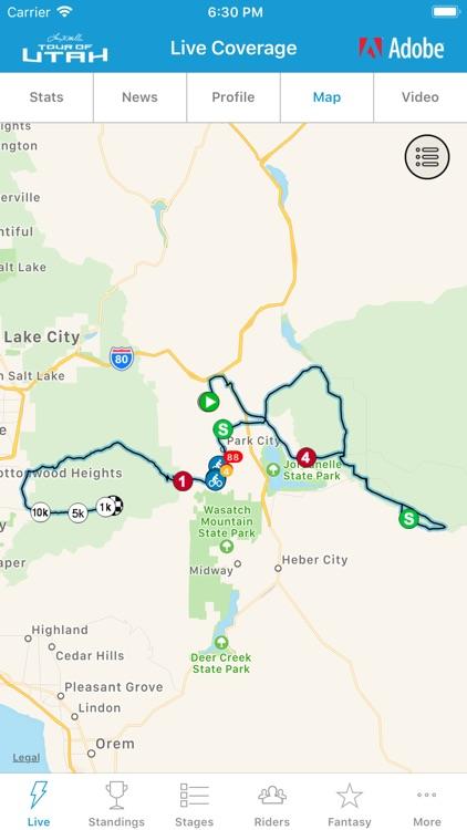 2019 Tour of Utah Tour Tracker screenshot-3