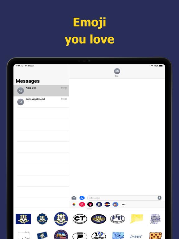 Connecticut emojis - USA moji screenshot 7