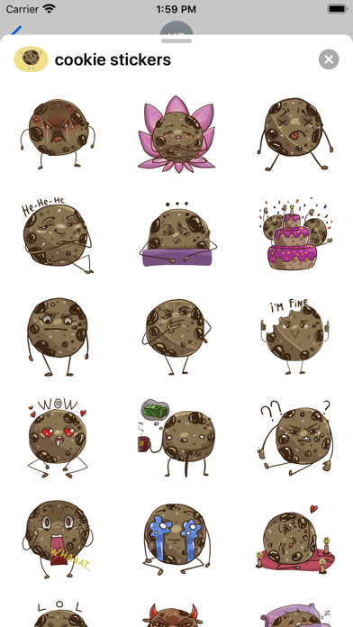 Cookie - Emoji and Stickers screenshot 1