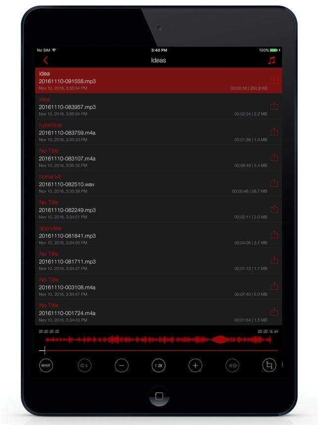 ボイスレコーダーAwesome Voice Recorder Screenshot