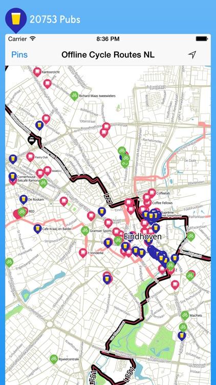 Offline Cycle Maps Netherlands screenshot-4