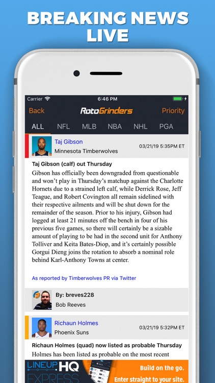 RotoGrinders Daily Fantasy screenshot-3