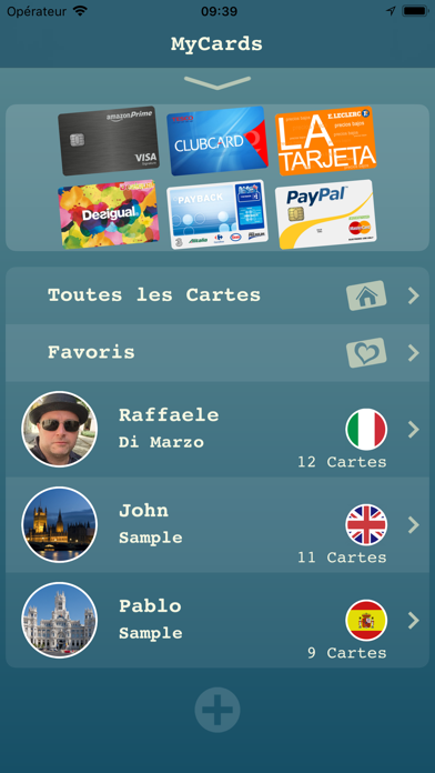 Screenshot My Cards Pro - Portefeuille