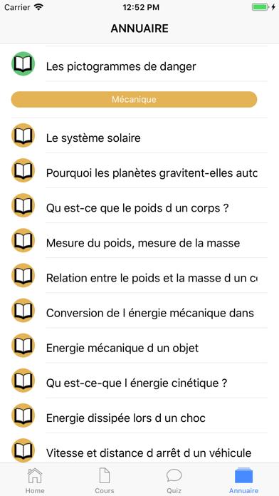 Physique 3ème screenshot 6