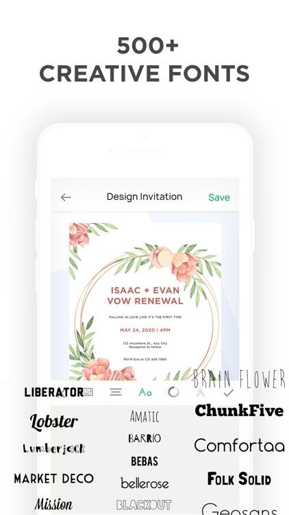 Invitation Maker- Make Invites screenshot-5