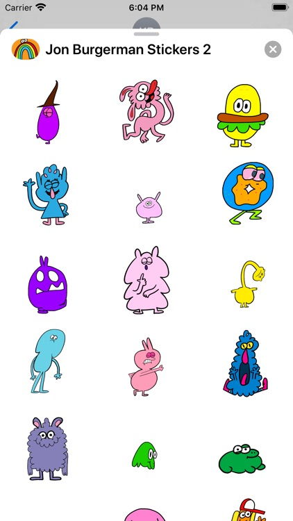 Jon Burgerman Stickers 2 screenshot-0