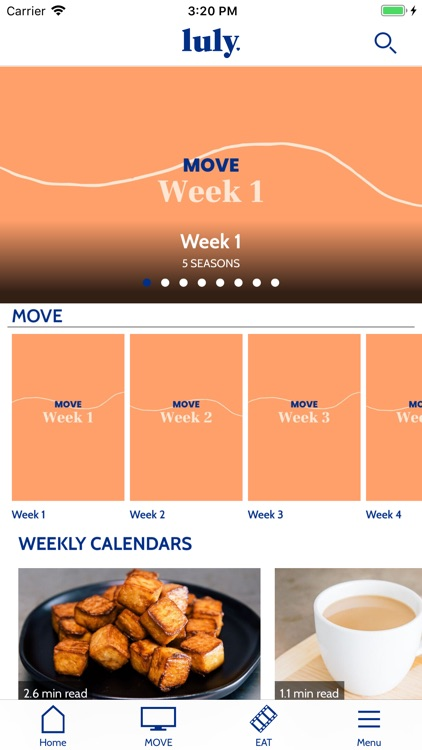 luly - workouts & recipes screenshot-1