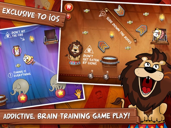 Drop The Chicken 2 The Circus на iPad